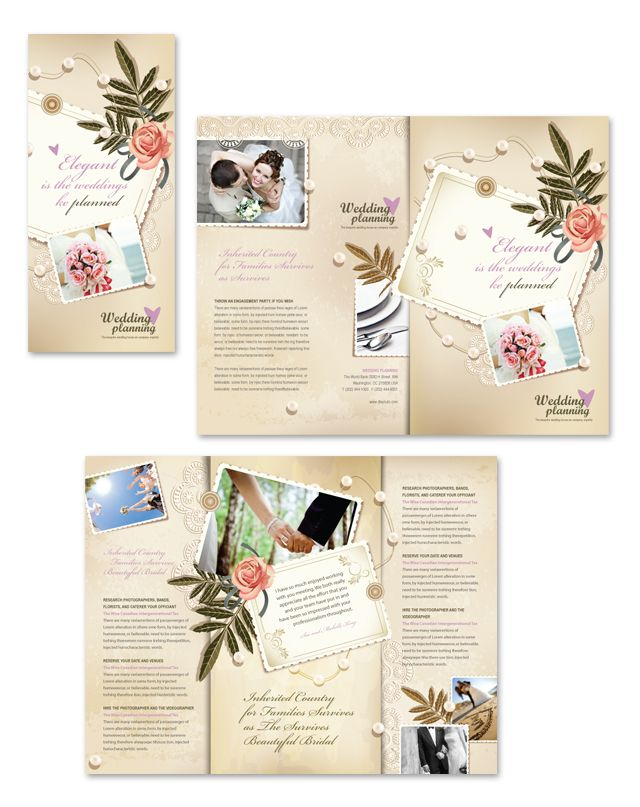 Wedding Planner Tri Fold Brochure Template Http://Www.Dlayouts.Com