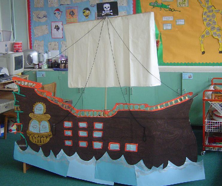 Pirate Ship Classroom Display Photo