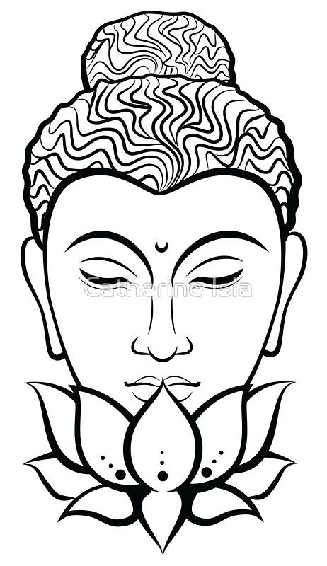 Breathe Black White Buddha Art Painting Mandala Design Art Buddha Art