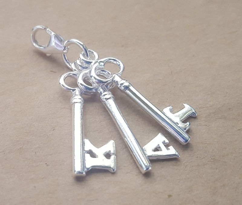 Pendant or charm letter key sterling silver or 9ct gold pendant or charm letter key sterling silver or 9ct gold mozeypictures Gallery