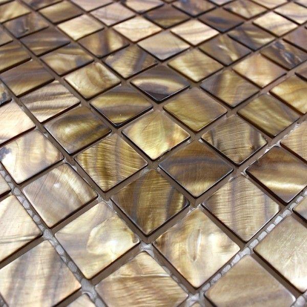 Carrelage Mosaique En Nacre Nacre Marron Carrelage Mosaique