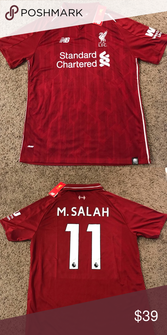 b05e83debfc 2018 2019 Mo Salah Liverpool Home Jersey New with tags FAST SHIPPING Shirts  Tees - Short Sleeve