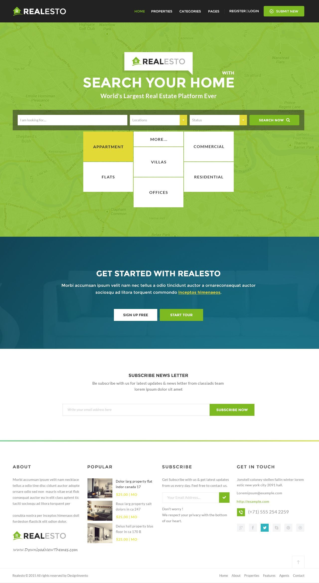 Realesto - Real Estate PSD Pack | Psd templates, Header and Real estate