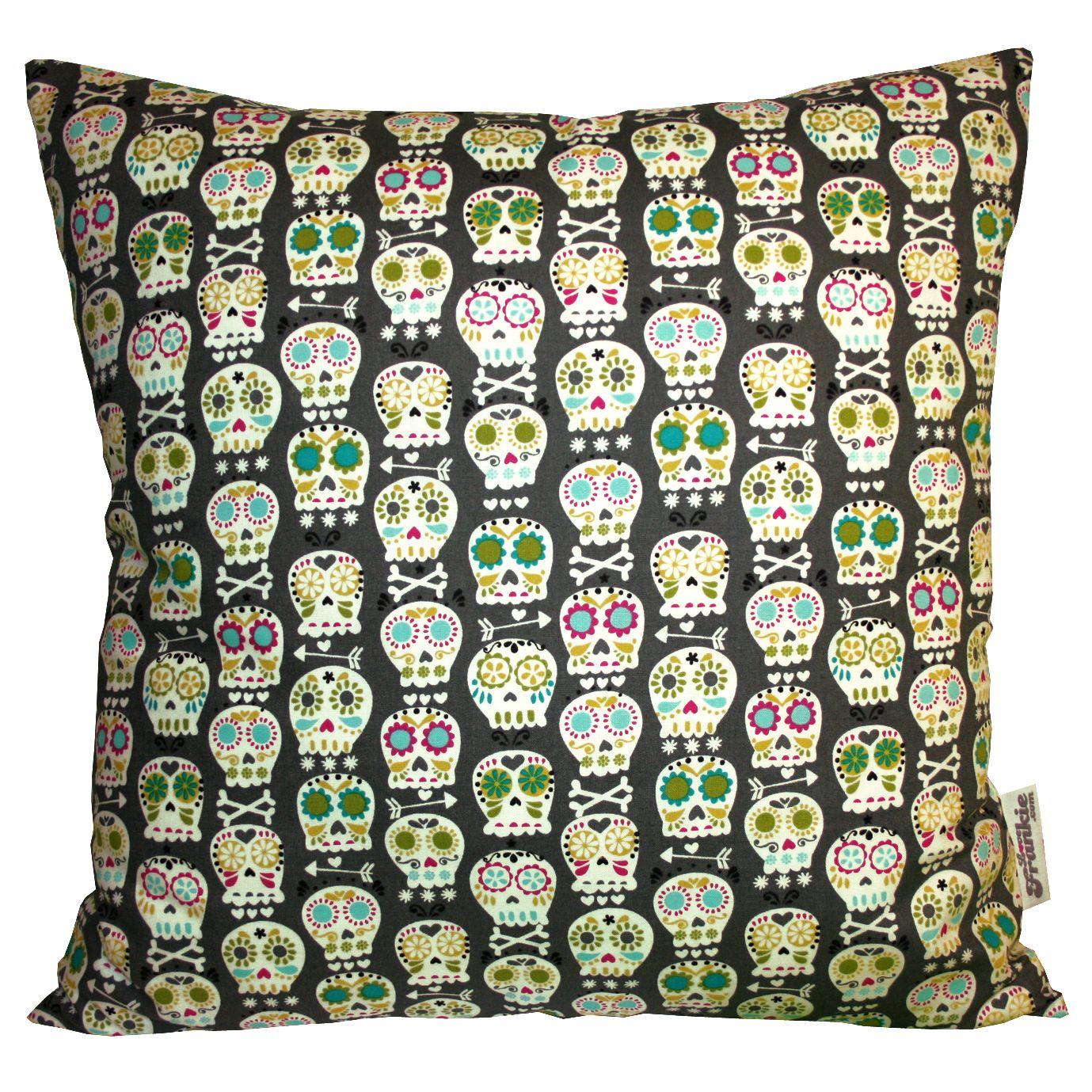 Bonehead Cushion in Grey by Love Frankie