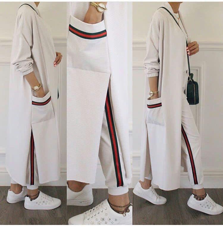 BU TAKIMA BAYILDIK????. . ????Kap + Bluz + Pantolon 3'LÜ TAKIM????. . ????FİYA #casualjumpsuit