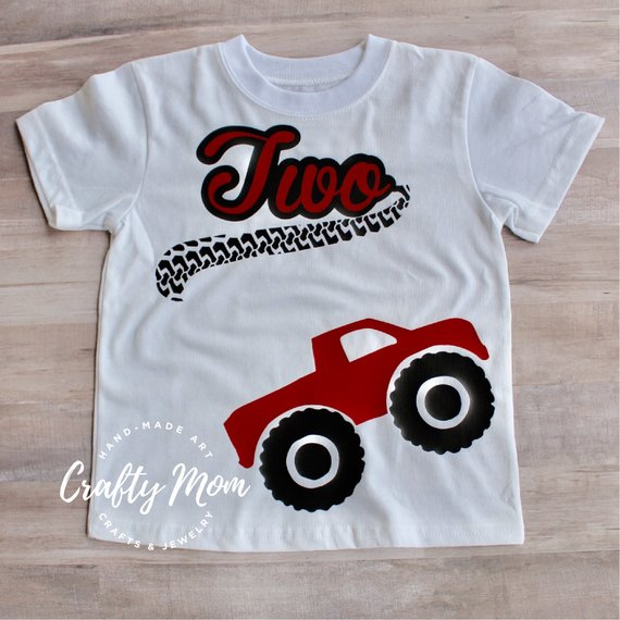 5e7bbb4e0 Monster Truck Birthday - Second Birthday Shirt in 2019   Products ...