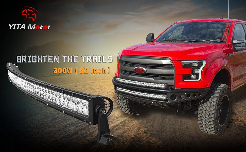 Amazon yitamotor 52 inch curved led light bar spot flood amazon yitamotor 52 inch curved led light bar spot flood combo led bar mozeypictures Images