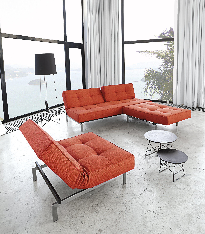 Best Splitback Luxury Sleeper Sofa W Arms Stainless Steel In 640 x 480