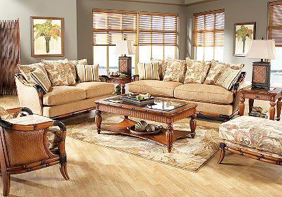 Cindy Crawford Home Coconut Grove 7 Pc Livingroom