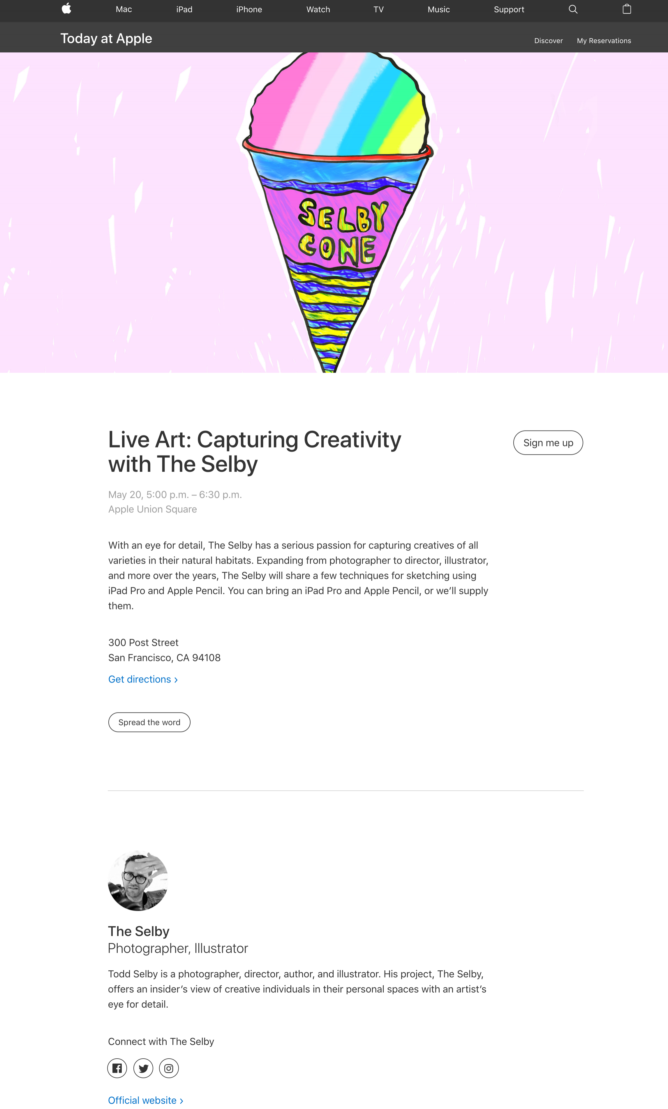 Today At Apple Union Square Live Art Capturing Creativity With