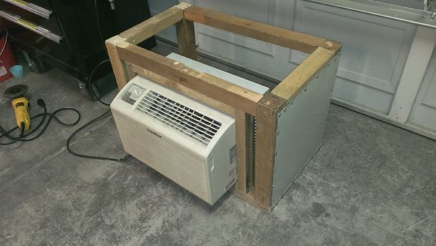 Window A C Unit Enclosure In 2020 Window Air Conditioner Installation Window Air Conditioner Window Air Conditioner Cover