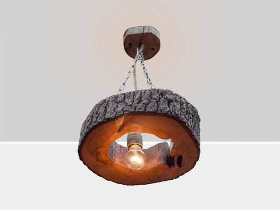 Plafoniere In Legno : Wood hanging lamp pendant lighting wooden