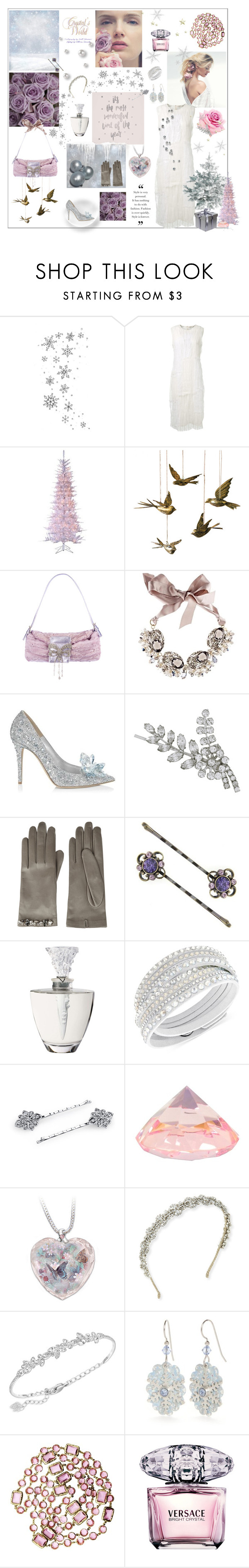 """Crystal Blossom "" by annia-radanovic ❤ liked on Polyvore featuring Ralph Lauren, Nina Ricci, Dot & Bo, Gabriele Frantzen, Jimmy Choo, Jennifer Behr, Gucci, 1928, Lalique and Swarovski"