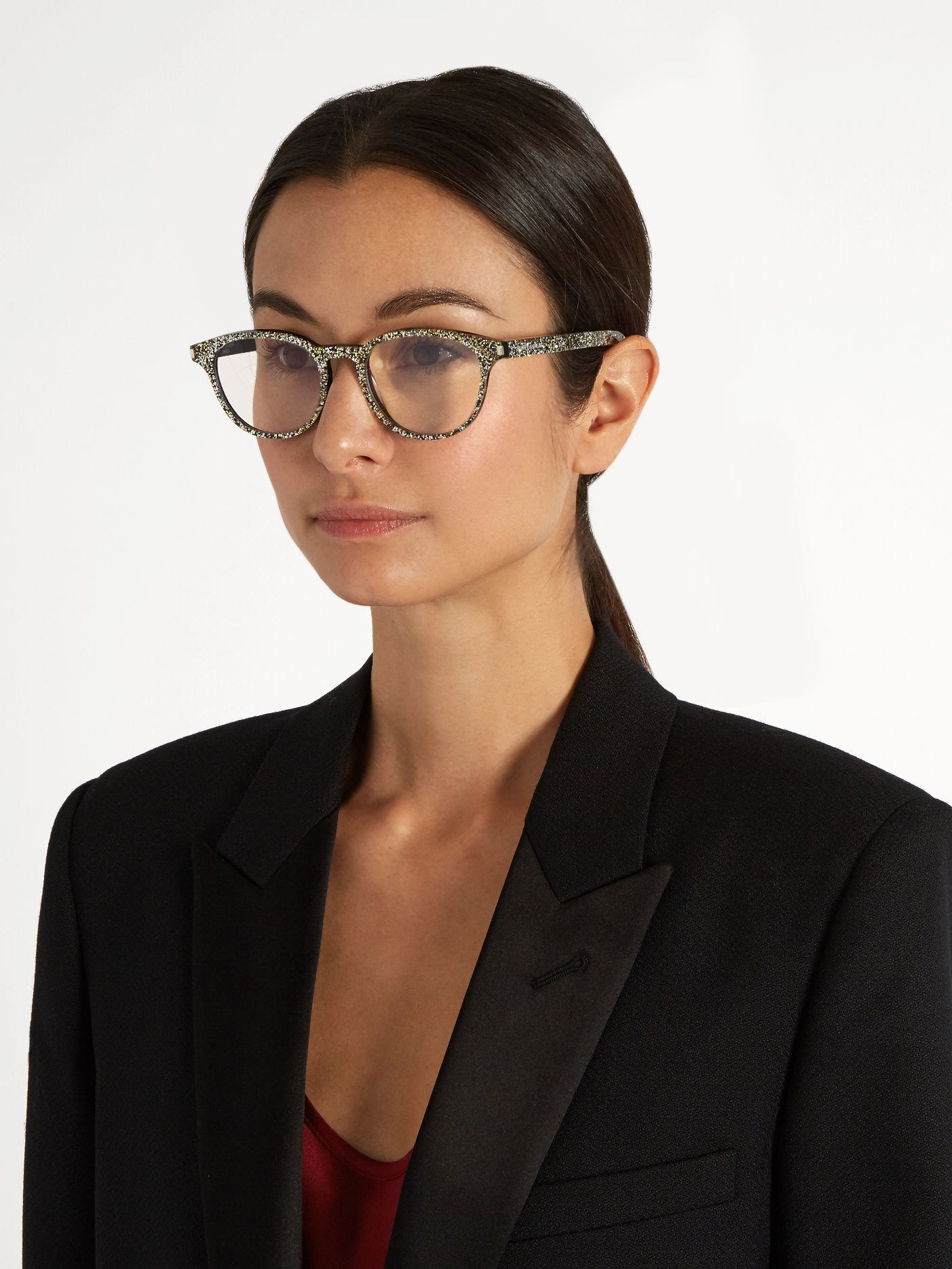 0702c69f561 Round-frame glitter glasses