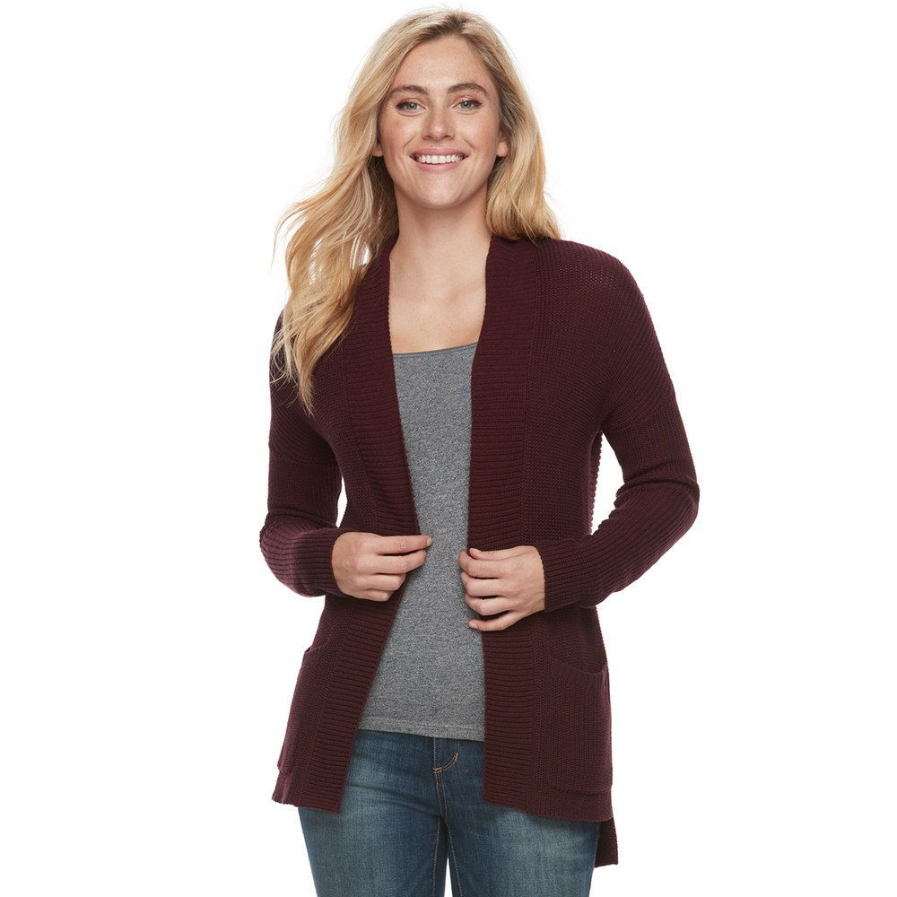 """Women's SONOMA Goods for Lifeâ""""¢ High-Low Cardigan Sweater, Size ..."""
