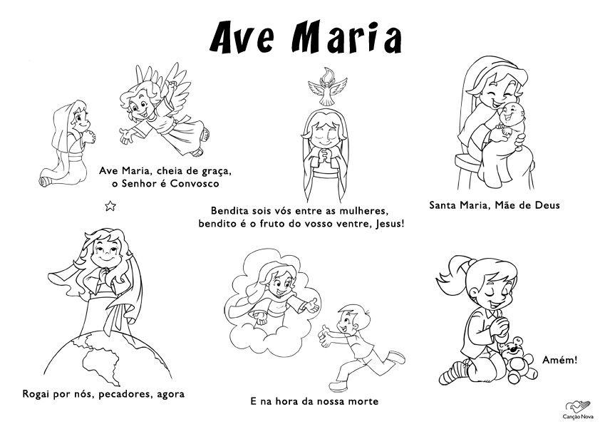 Atividade Com A Oracao Da Ave Maria Catequese Ave Maria Catequista