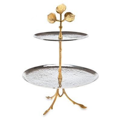 Godinger Leaf 2 Tier Serving Plate Bedbathandbeyond Com Tiered Server Tiered Stand Tiered