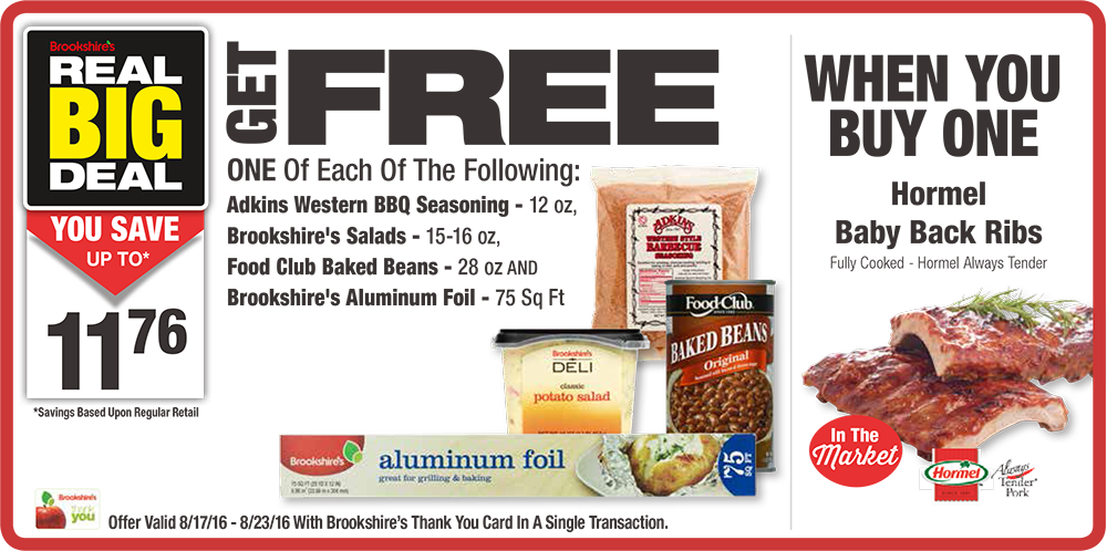 Real Big Deal When You Buy One Hormel Baby Back Ribs Fully Cooked Hormel Always Tender Get One Of Each Of The Follo Bbq Seasoning Food Club Baby Back Ribs