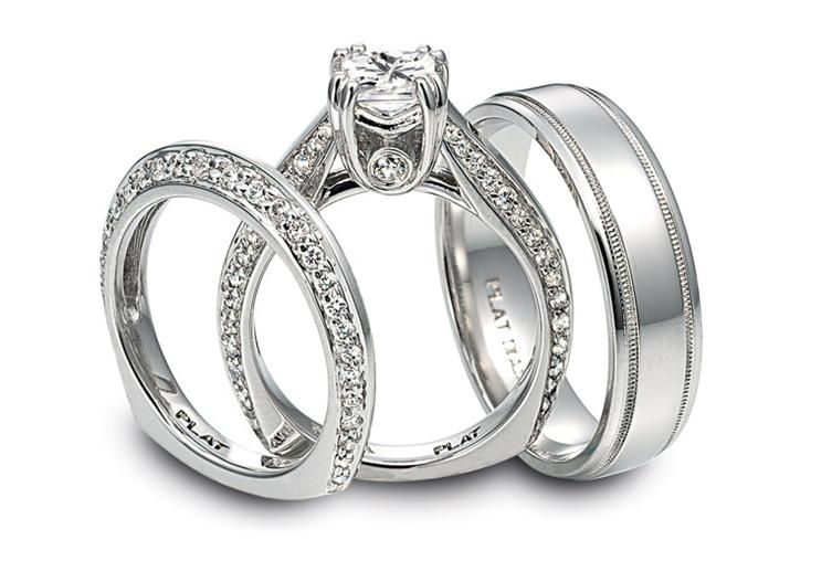 Diana Platinum And Pave Diamond Engagement Ring With A Surprise