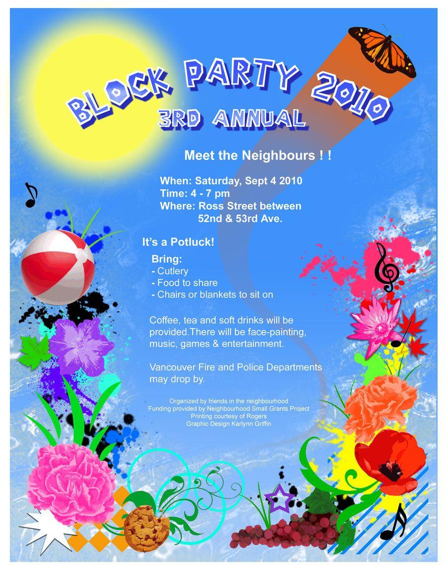 Block Party Invite Wording Google