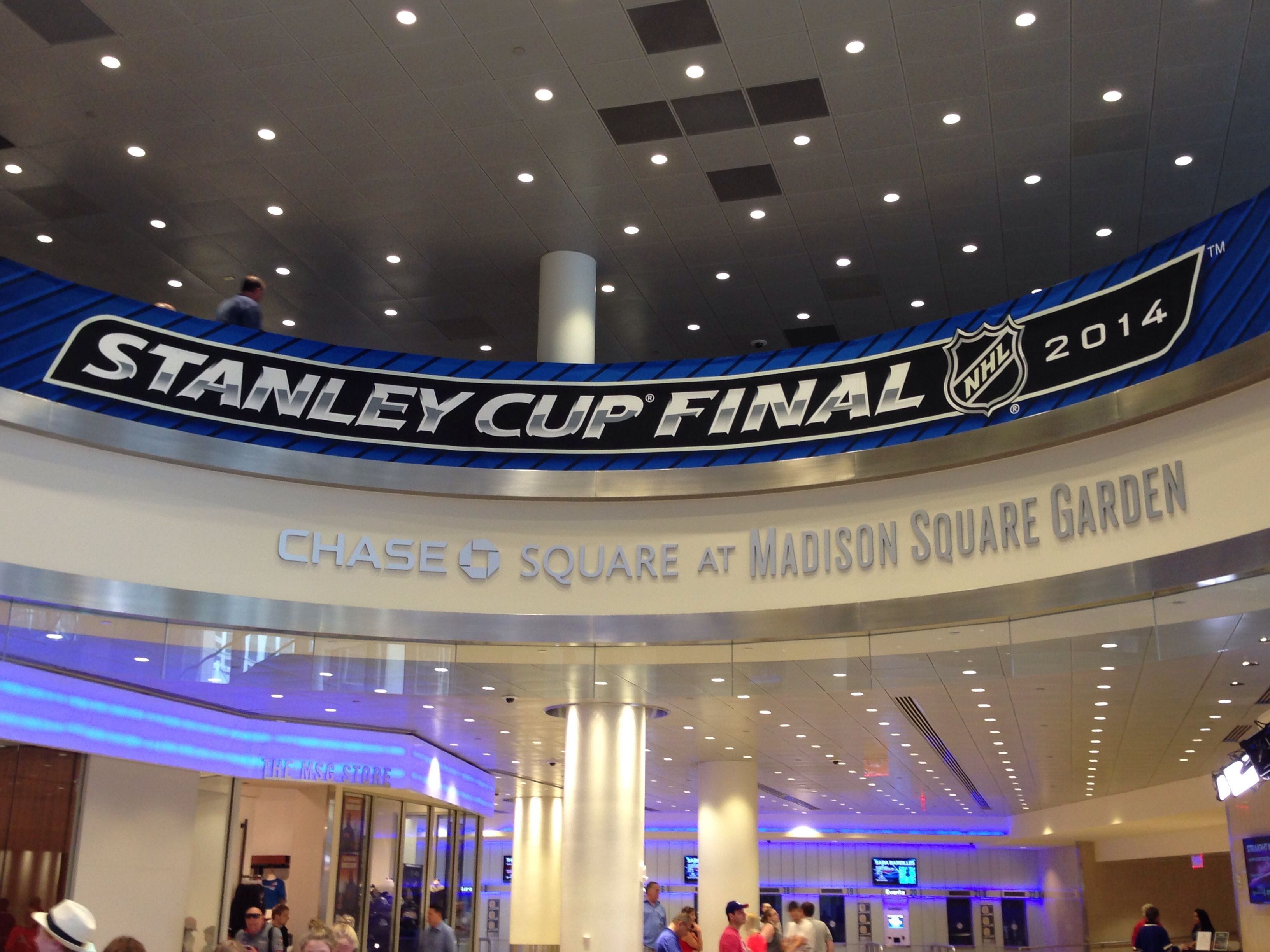 Inside The Lobby At Msg Nyr Nyrcup Stanleycup Msg Madison Square Madison Square Garden Stanley Cup