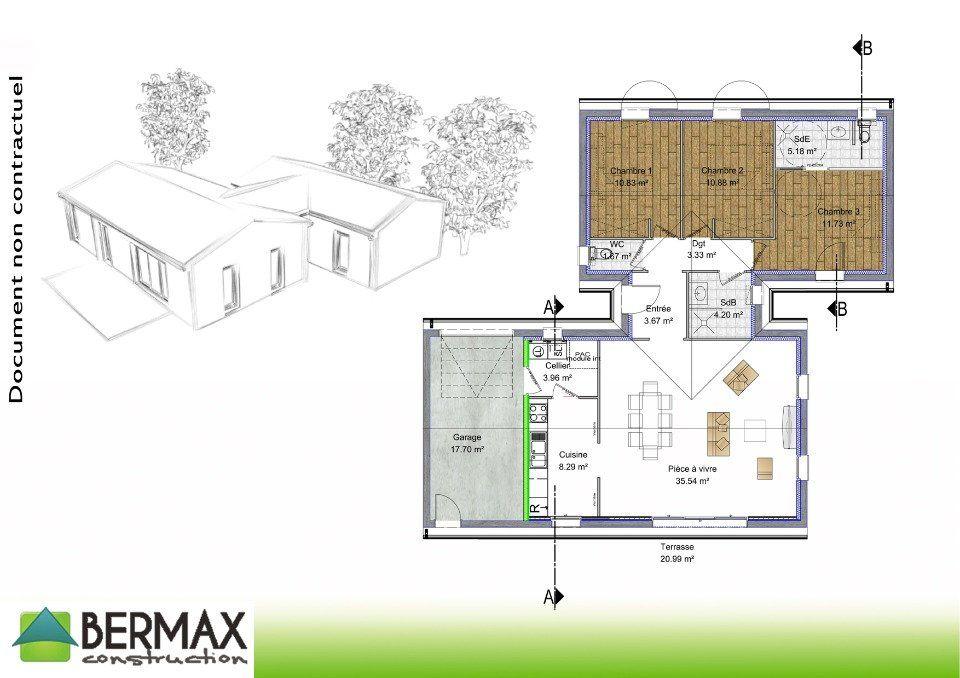 Plan achat maison neuve à construire - Bermax Maison Contemporaine