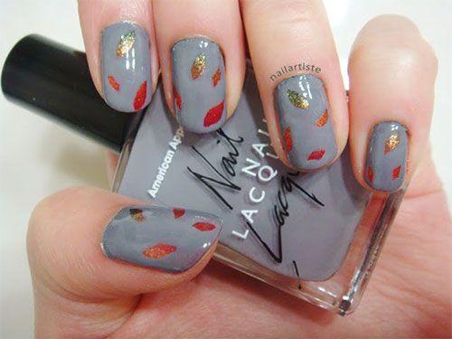Pin By Deb Af On Pretty Nail Art Fall Nail Art Designs Fall Nail Designs Fall Leaves Nail Art
