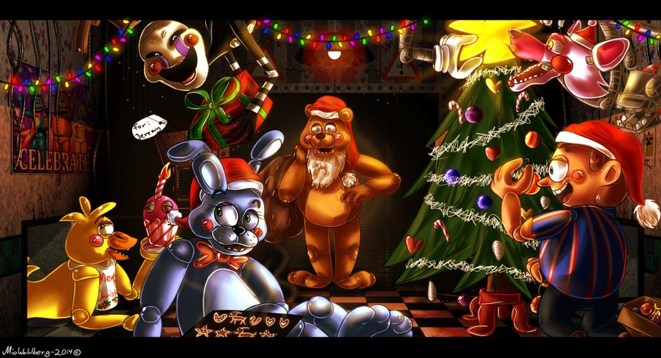 Fnaf Christmas.Fnaf Christmas Fnaf Fnaf Five Nights At Freddy S Five