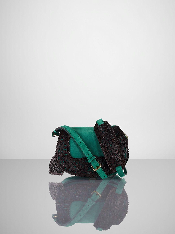 Suede Tooled Cross-Body - Ralph Lauren Handbags Handbags - RalphLauren.com 4212e1e02aff9