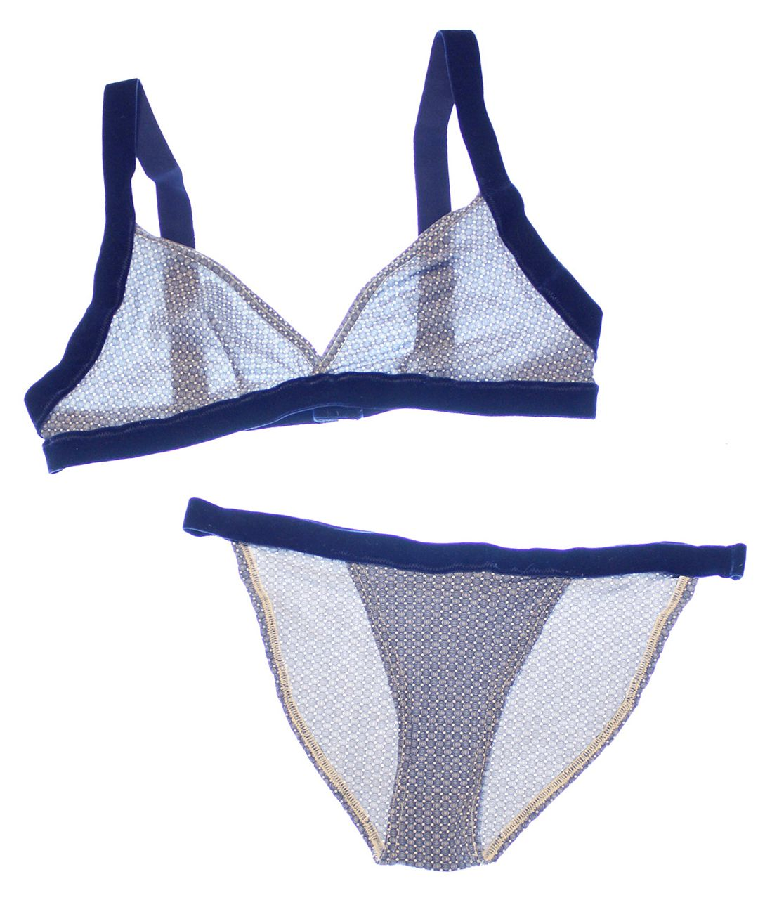 PRETTY LITTLE UNDERTHINGS: What's Ivory and Navy and Lacy All Over?