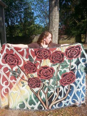 It Must Have Been The Roses BLANKET by BlastingRainbows on Etsy