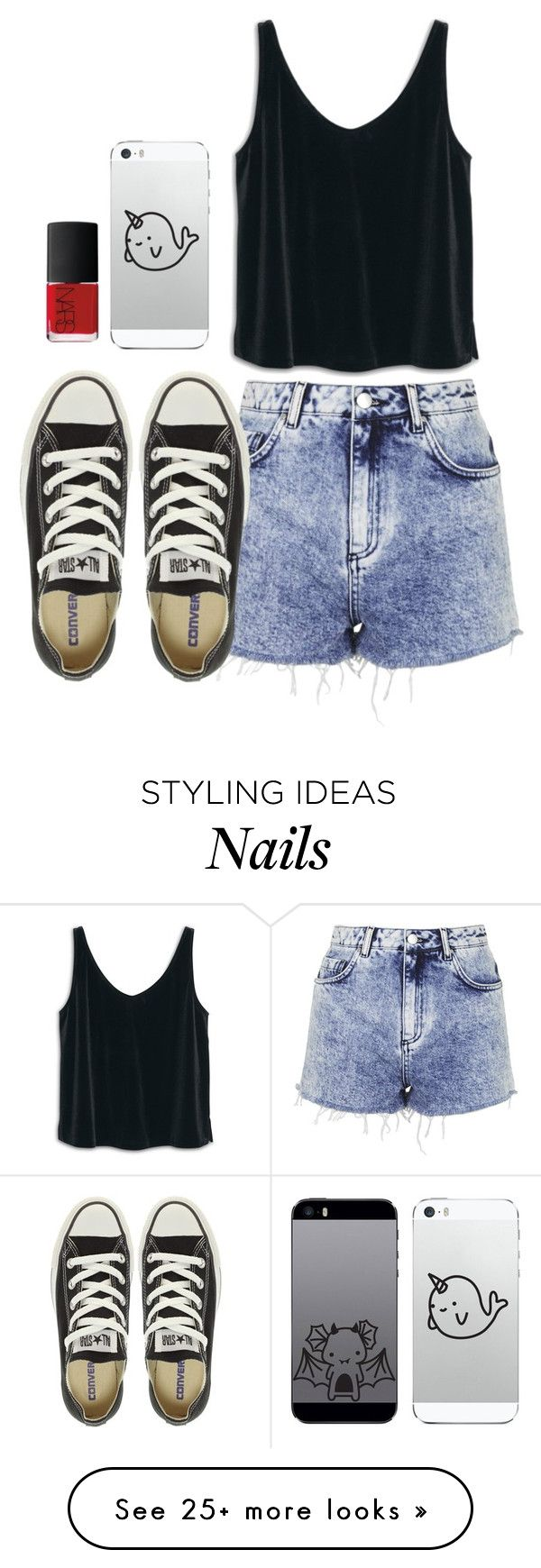 """I go to sleep..."" by karenbelieve on Polyvore featuring MANGO, Topshop, NARS Cosmetics, Converse, women's clothing, women's fashion, women, female, woman and misses"