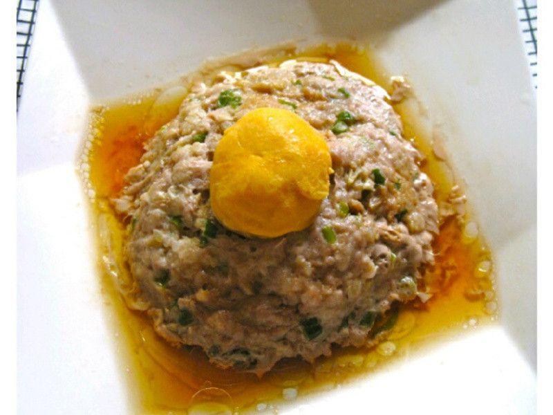 大同電鍋料理 鹹蛋蒸肉by 林茉莉 レシピ 鍋料理 料理 肉料理