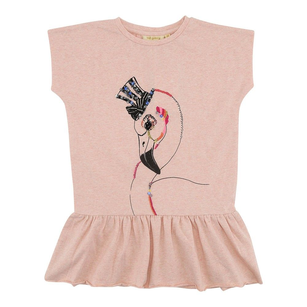 "sweatkleid pippi ""flamingo"" 