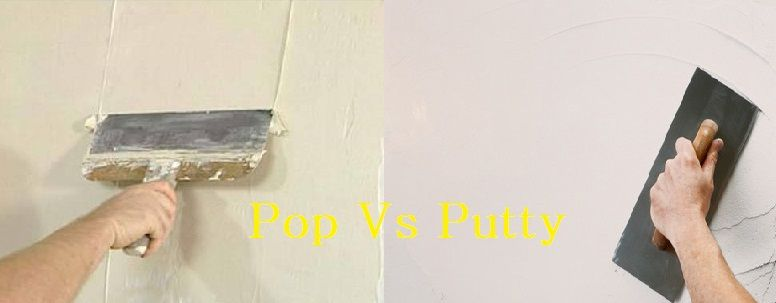 Pop Vs Putty Difference Between Pop And Wall Putty Civil Lead Wall Construction Materials Interior Design Work