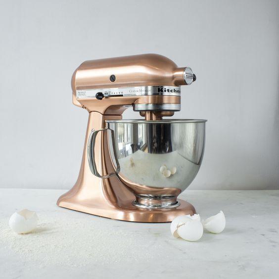 Kitchen Mixer Bride ~ Copper kitchen aid mixer is a wedding registry must