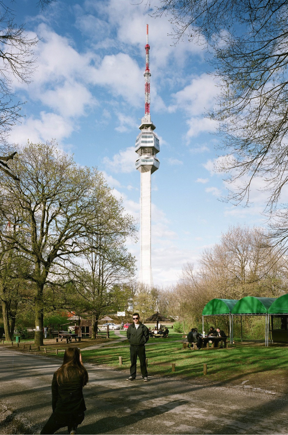 Avala Television Tower, Belgrade is a 204.5m tall telecommunication tower located in the Avala mountains in the periphery of Belgrade.