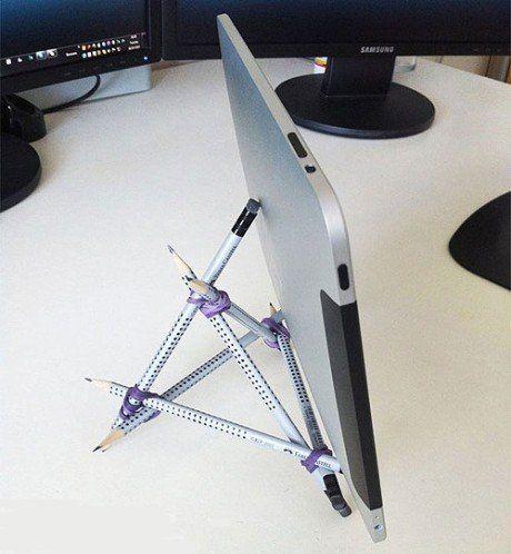 Shocking DIY iPad holder | Diy ipad stand, Rubber bands ...