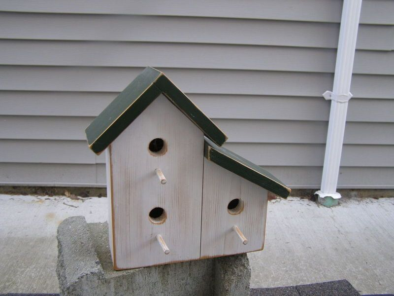 cottage garden birdhouse, chalk paint, container gardening, repurposing upcycling