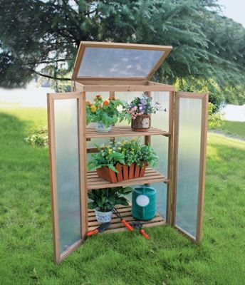 Mini Timber Growhouse Homebase 2 X 4 70 Cold Frame Mini Greenhouse Traditional Greenhouses