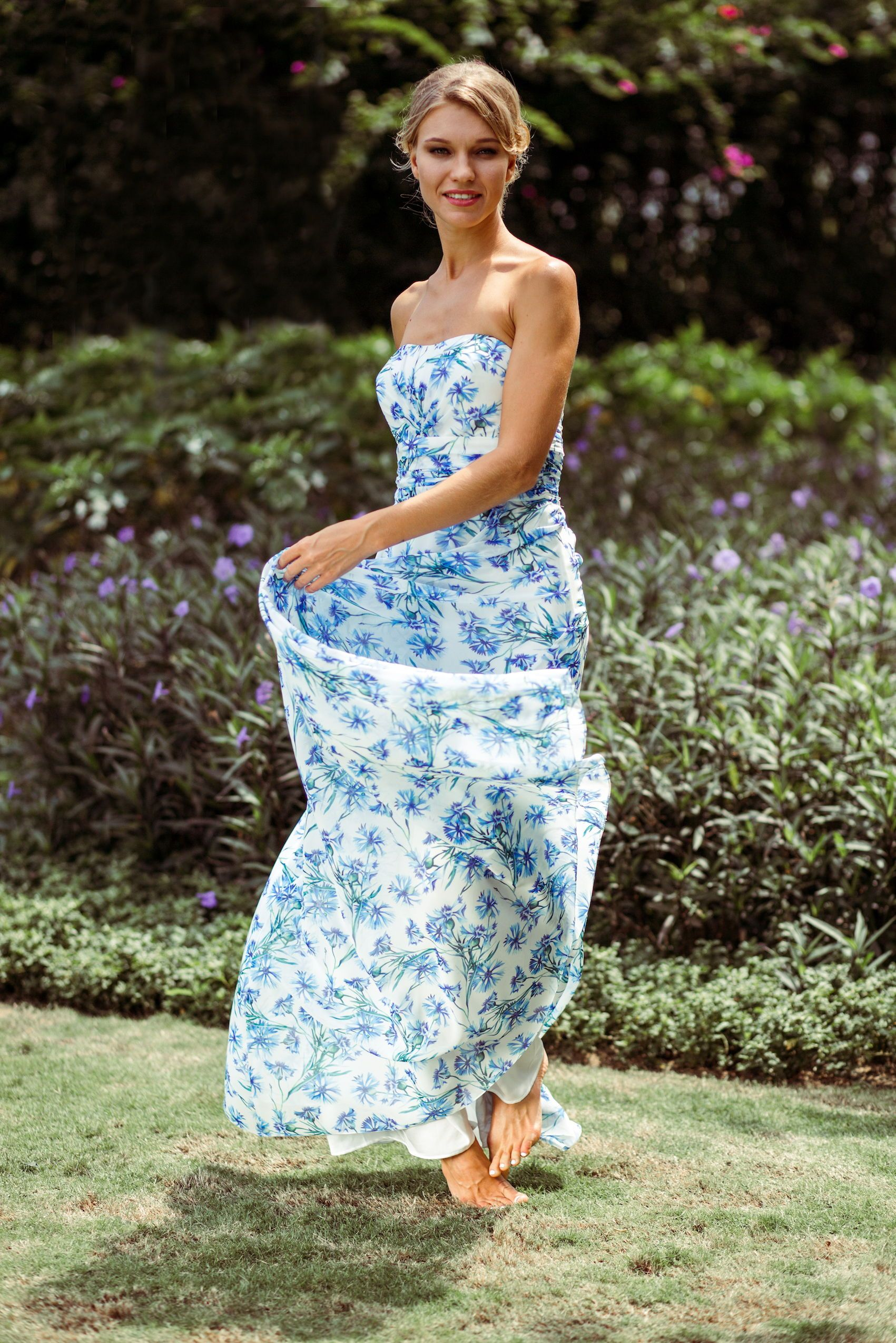 f480a3d378e This gorgeous bridesmaid dress features printed chiffon with our bespoke floral  print
