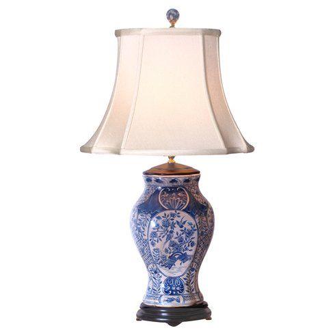 "Beautiful Jade Color Porcelain Vase Table Lamp 28/"""