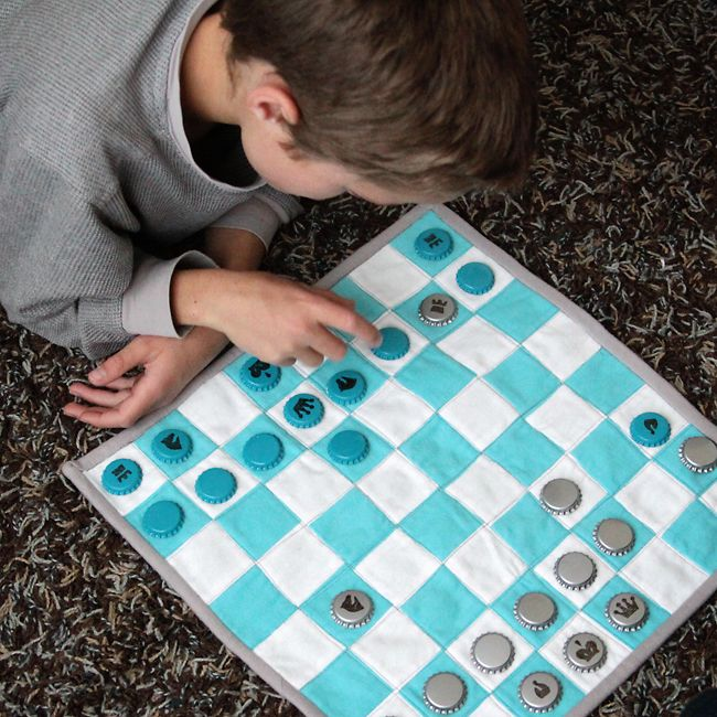Handmade Christmas Gifts For Kids: Quilted Kid's Chess Set