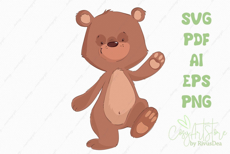 Teddy Bear Svg Cute Bear Png Cute Baby Anim By Rivus Art Thehungryjpeg Com Cute Ad Bear Png Teddy Adv Teddy Bear Cute Teddy Bears Cute Baby Animals