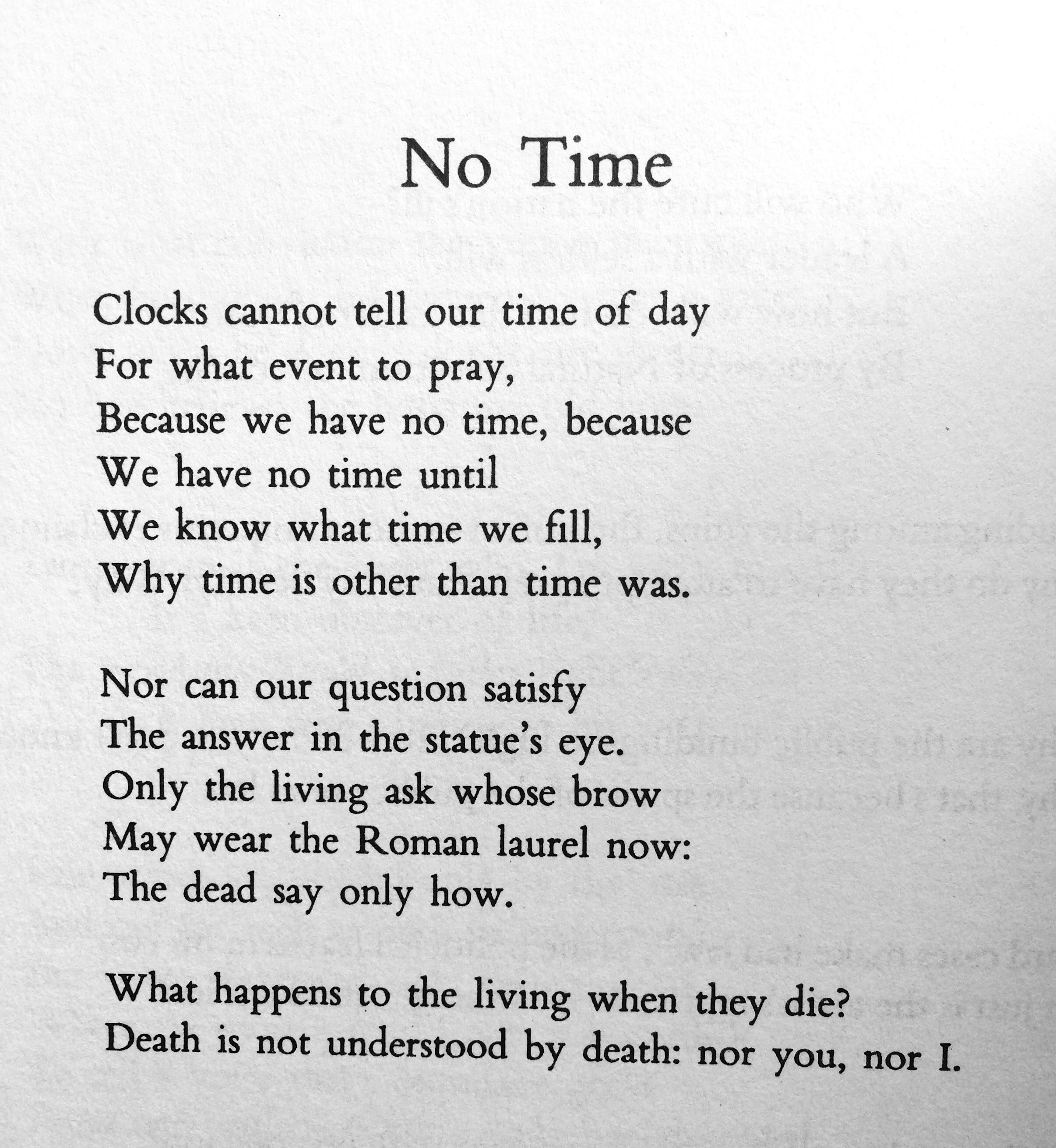 W H Auden No Time Poems By Famous Poets Poetry Poem Poem Quotes