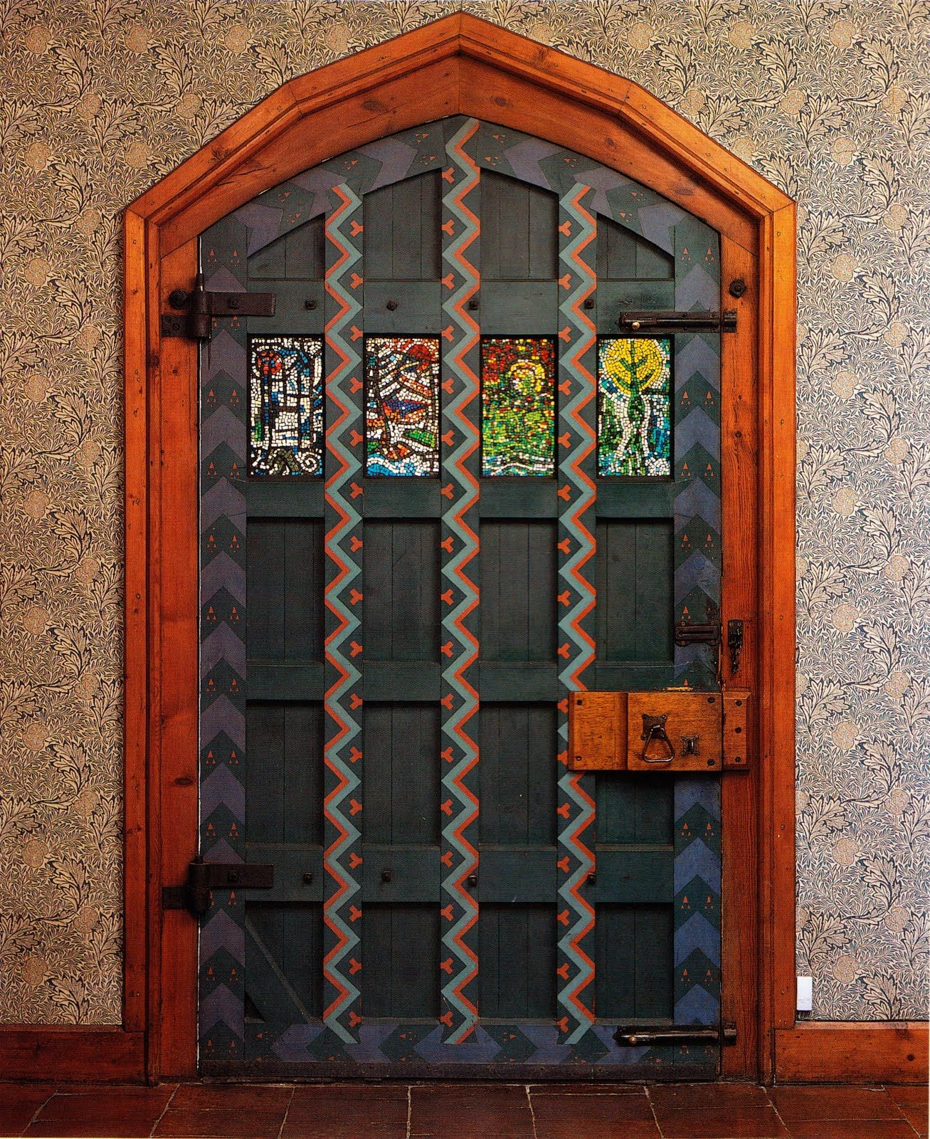 """The front entrance door to Red House, a home William Morris designed with Philip Webb & built while they were in their 20s. via """"William Morris Fan Club"""" blog"""
