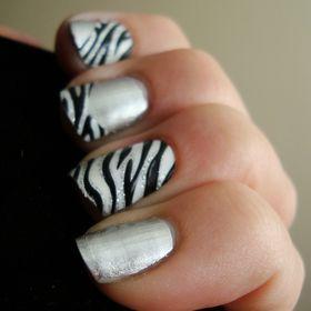 zebra stripes nail art   Beautylish