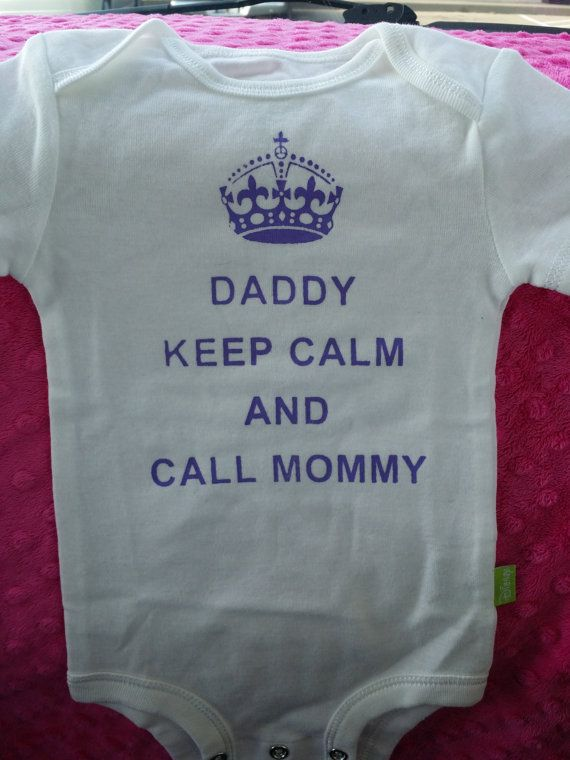 a368e92e56f6 Daddy Call Mommy cute baby funny creepers shirt bodysuit great gift ...