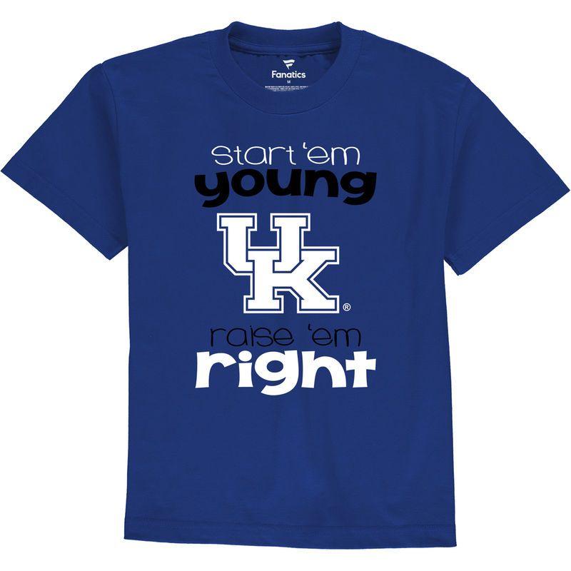 reputable site a402c fb4a2 Kentucky Wildcats Fanatics Branded Toddler Start Em Young T-Shirt - Royal