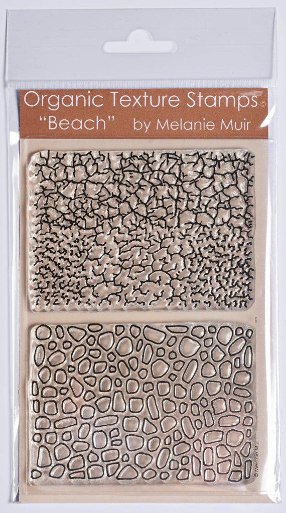 Sello/hoja de textura orgánica  'La playa' por MelanieMuir en Etsy, £9.00